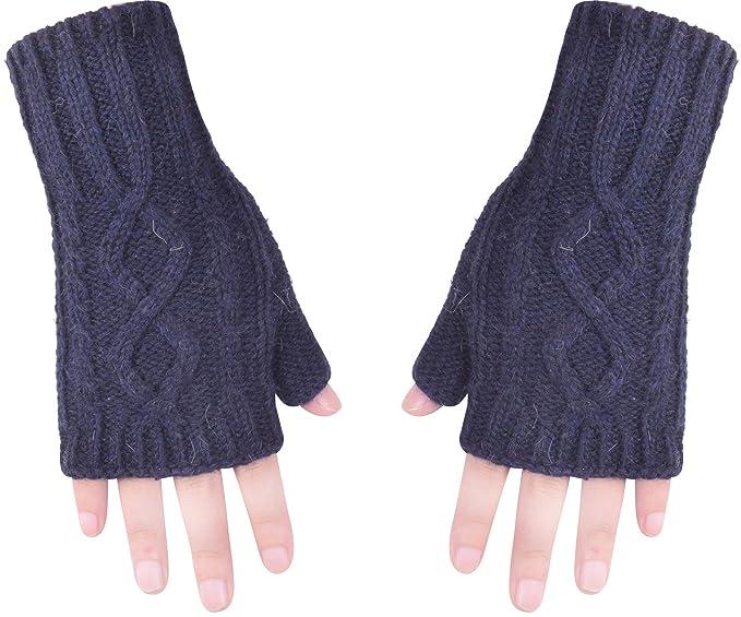 Winter Fingerless Glove Hand Warmer Knit Wrist Warmers For Women ...