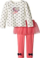 Petit Lem Baby-Girls Newborn Dots Garden Top and Legging Set
