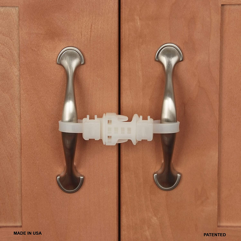 Amazon.com : Kiscords Baby Safety Cabinet Locks for Handles Child ...