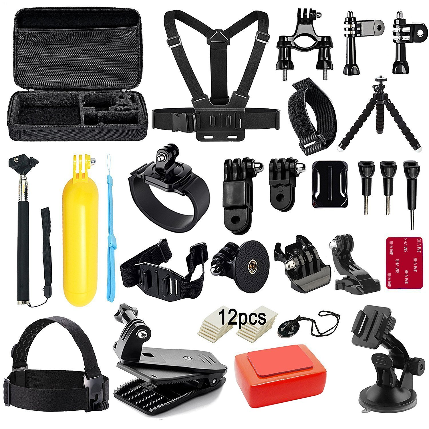 Robustrion Go Pro 38 in 1 Mounts and Straps Accessory Kit