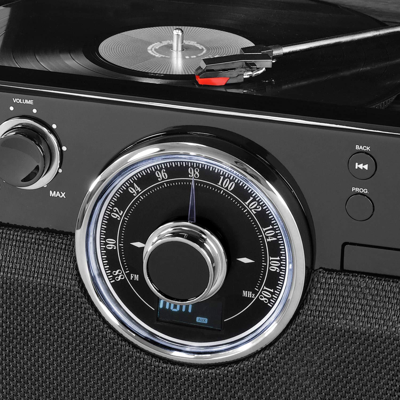 Amazon.com: Victrola 6 en 1 Madera Bluetooth Mid Century ...