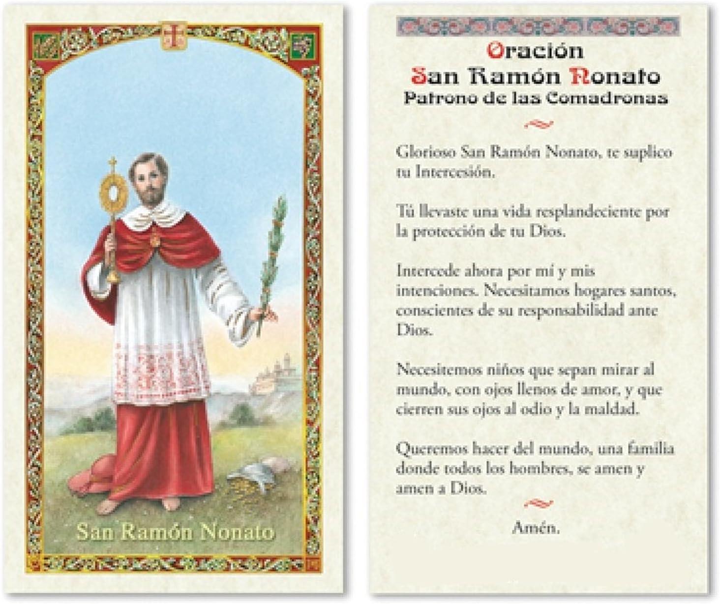 Amazon.com: Oracion a San Ramón Nonato Patron de las ...