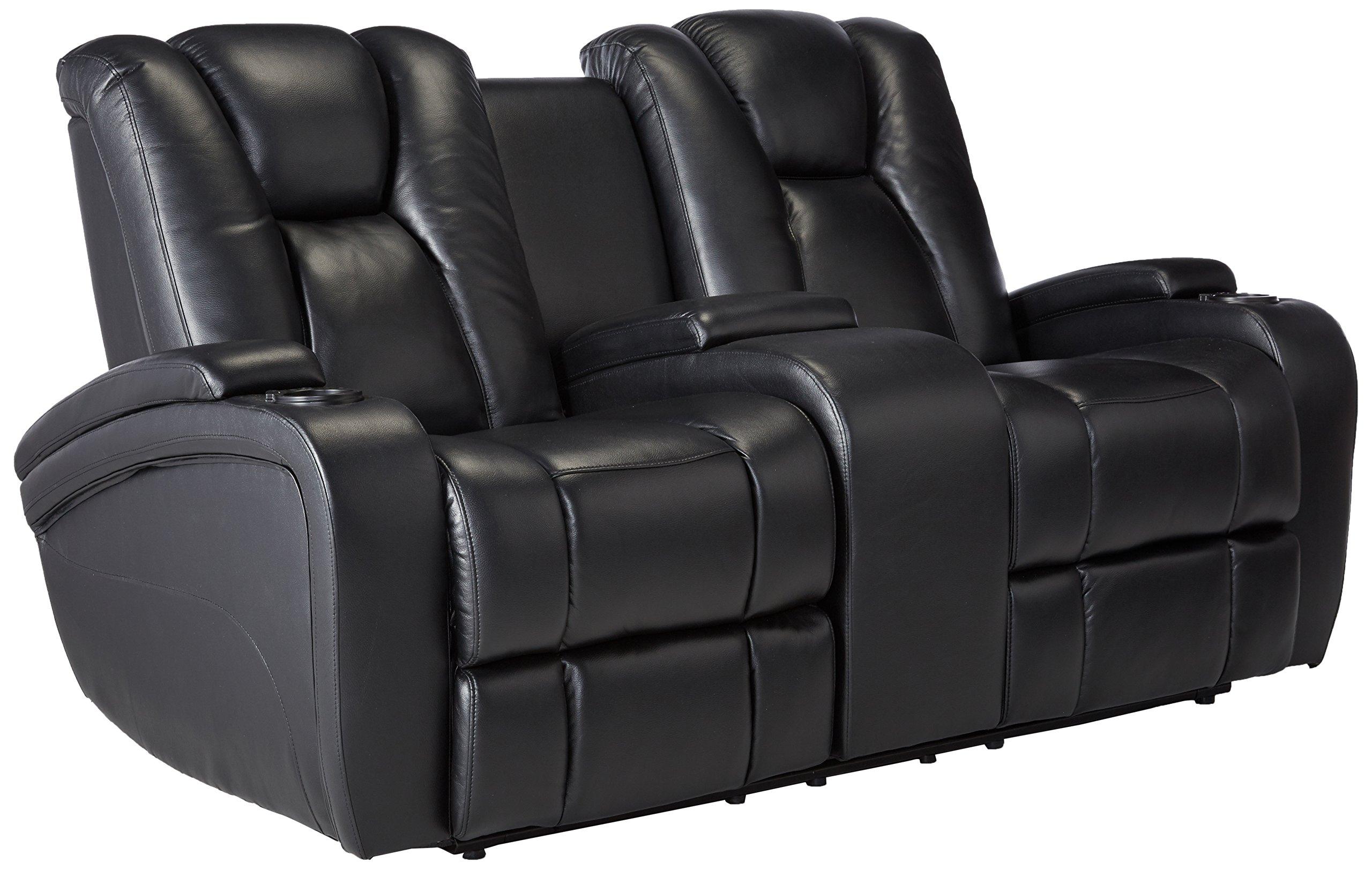 Coaster 601742P Home Furnishings Power Love Seat, Black