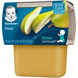 Gerber 2nd Foods Pears, 4 oz Tubs, 2 Count
