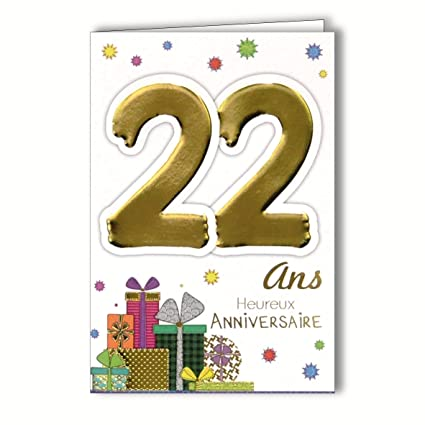 Amazon MV 69 2024 Age Card 22 Years Young Mens Birthday Gifts Office Products