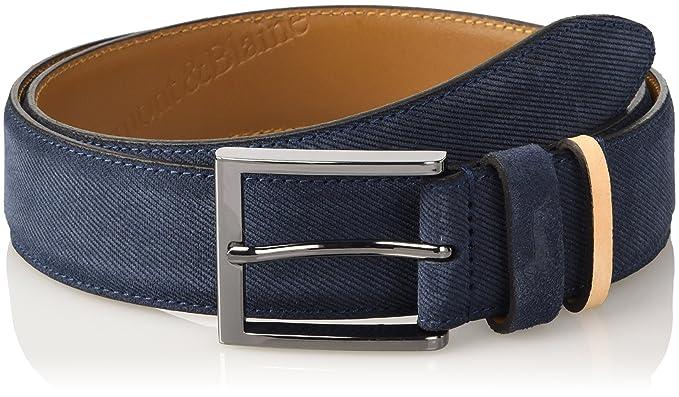 negozio di sconto prezzo economico classico HARMONT & BLAINE Crosta Stampata, Cintura Uomo, Blu (Indaco chiaro ...