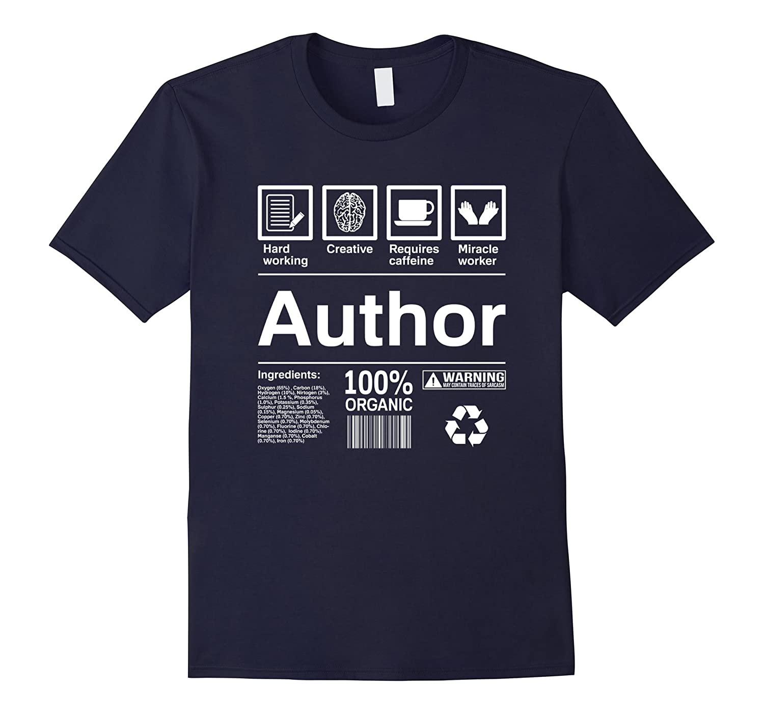 Author T Shirt  Author Gifts-PL