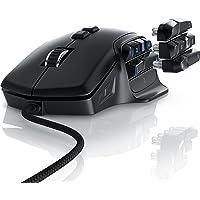 Titanwolf - System Ratón para juegos con una frecuencia de muestreo de 10000 dpi - 6 ajustes DPI - Botones de pulgar intercambiables - Modo de luz RGB - Plug y Play