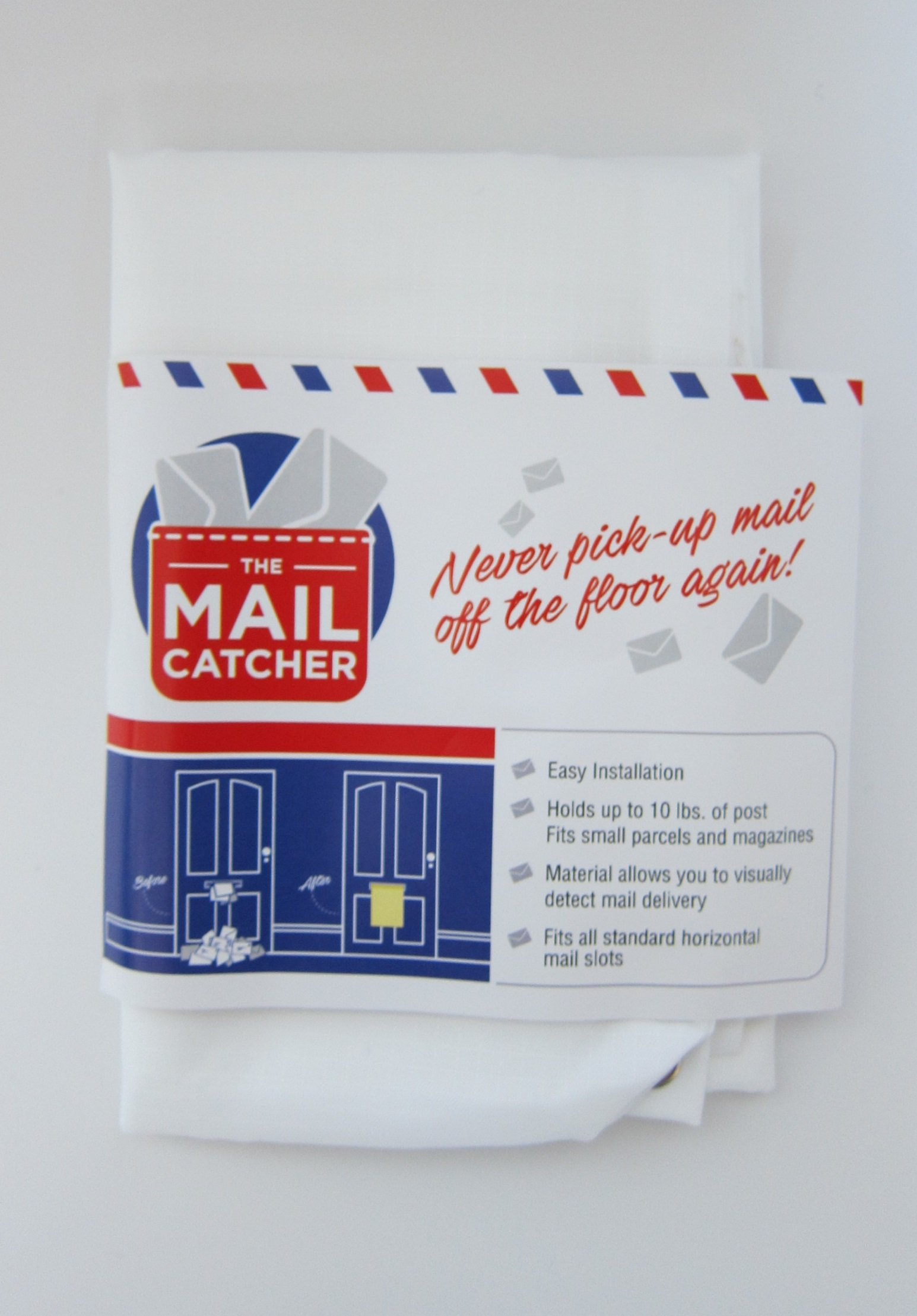 The Original Mail Catcher Bag Sack Front / Garage Door Slot Letter Catcher Post Box Basket by The Mail Catcher