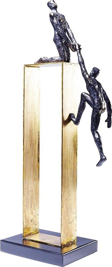 kare design deko objekt elements come together goldenes dekoobjekt mit 2 figuren edles dekoobjekt