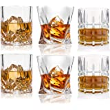 Whiskey Glasses-Premium 10, 11 OZ Scotch Glasses Set of 6 /Old Fashioned Whiskey Glasses/Style Glassware for Bourbon/Rum…