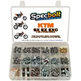 250pc Specbolt Brand Bolt Kit for Maintenance Upkeep of KTM SX EX EXC MX Dirtbike OEM Spec Fastener. This Includes 2 Strokes: 50 60 65 85 105 125 250 300 550 4 Strokes: 250 350 400 450 500 520 525 (Color: GRAY DACROMET SILVER ZINC, Tamaño: 250 PIECES FACTORY SIZE HARDWARE)