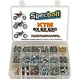250pc Specbolt Brand Bolt Kit for Maintenance Upkeep of KTM SX EX EXC MX Dirtbike OEM Spec Fastener. This Includes 2 Strokes: