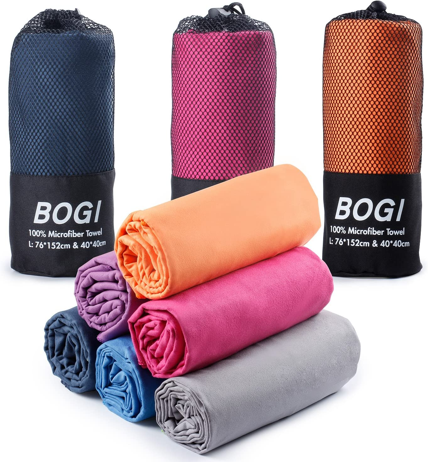 BOGI Microfiber Travel Sports Towel-(Size: S M ...