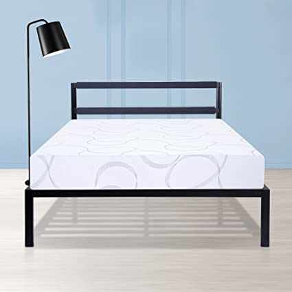 Amazon.com: 14 \'\' Platform Metal Bed Frame, Bedding, Queen ...