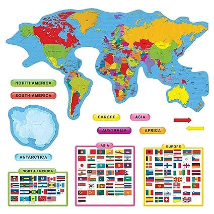 Amazon.com : Continents & Countries Bulletin Board Set ...
