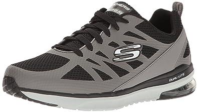 2762becf0da2 Skechers Men s Skech-Air Infinity Grey Black Shoe
