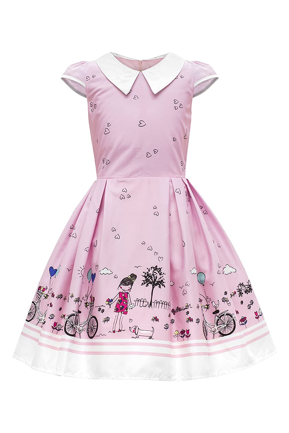 Vintage Style Children's Clothing: Girls, Boys, Baby, Toddler BlackButterfly Kids Olivia Vintage Sunshine 50s Childrens Girls Dress $26.99 AT vintagedancer.com