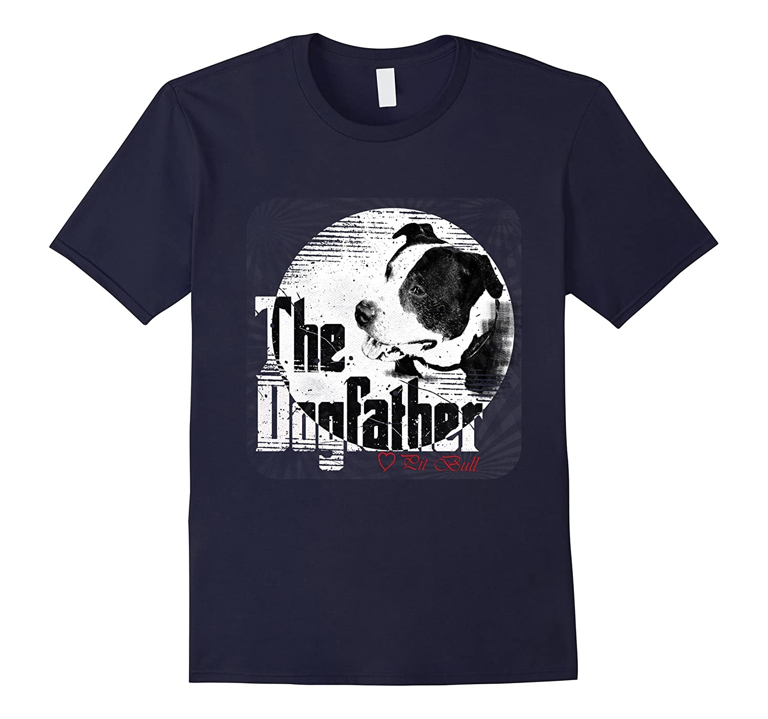 2559e1c8 Mens The Dogfather Shirt | Pitbull Dad Dog Tee| Father's Day Gift-ANZ