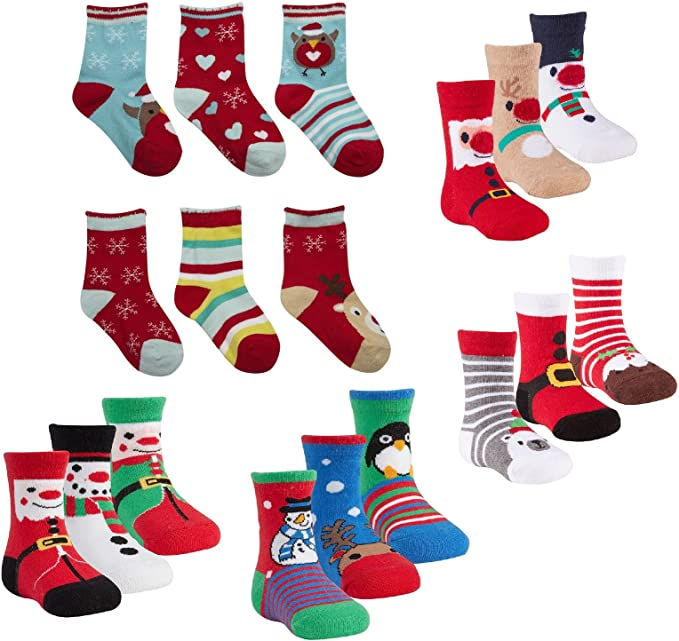 Babies 3 Pack of Christmas Socks