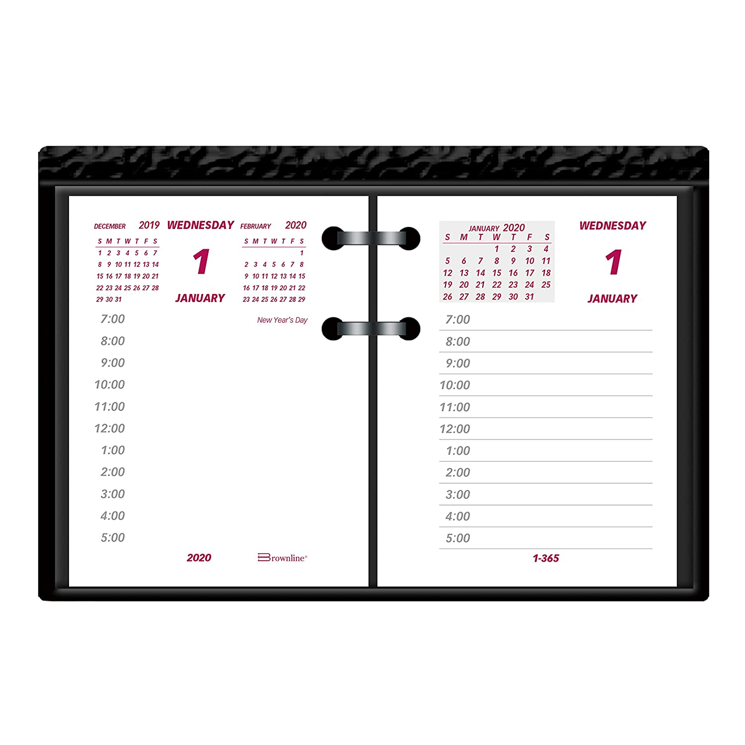 Hourly Calendar For 16, 17 18 February 2019 Amazon.: Brownline 2020 Daily Desk Calendar, Refill, 3.75 x