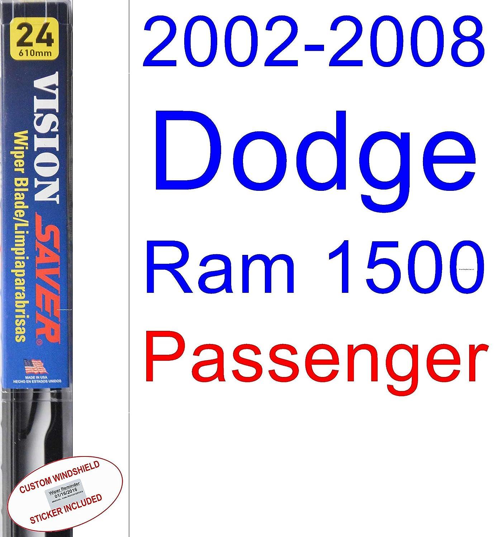 Amazon.com: 2002-2008 Dodge Ram 1500 Wiper Blade (Driver) (Saver Automotive Products-Vision Saver) (2003,2004,2005,2006,2007): Automotive