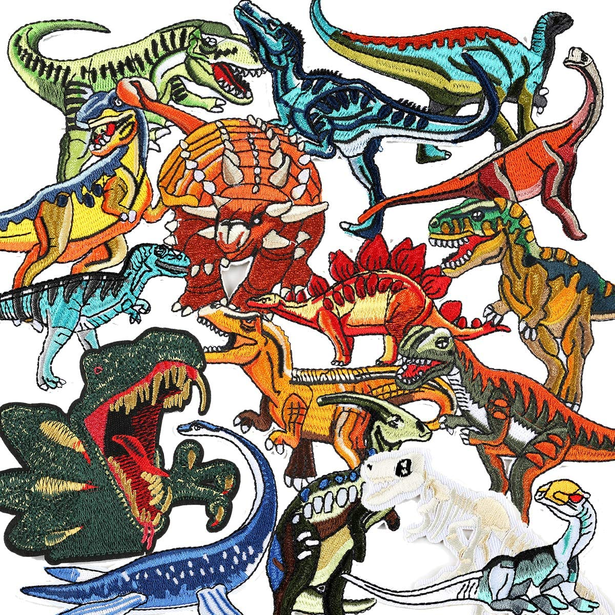 LAKIND Parches Dinosaurios 16-PACK Parches De Dinosaurios Parches Ropa Termoadhesivos Bricolaje Hierro-en Parches de Ropa para T-shirt Jeans Ropa Bolsas (16-pack): Amazon.es: Hogar