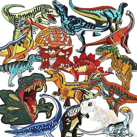 LAKIND Parches Dinosaurios 16-PACK Parches De Dinosaurios Parches ...