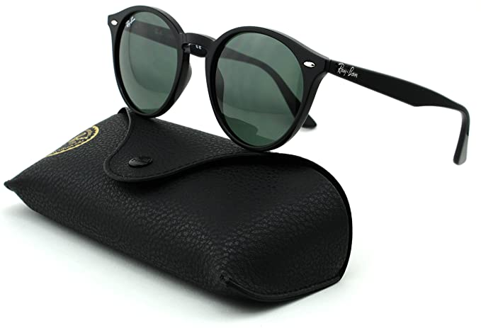 e68c6fc6d4c165 Amazon.com  Ray-Ban RB2180 Unisex Round Sunglasses (Black Frame Grey Green  Lens 601 71, 49)  Clothing