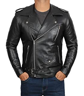 Mens Black Quality 4 Pocket Leather Motorcycle Biker Classic Waistcoat 600-002 Year-End Bargain Sale Parts & Accessories Coats & Jackets