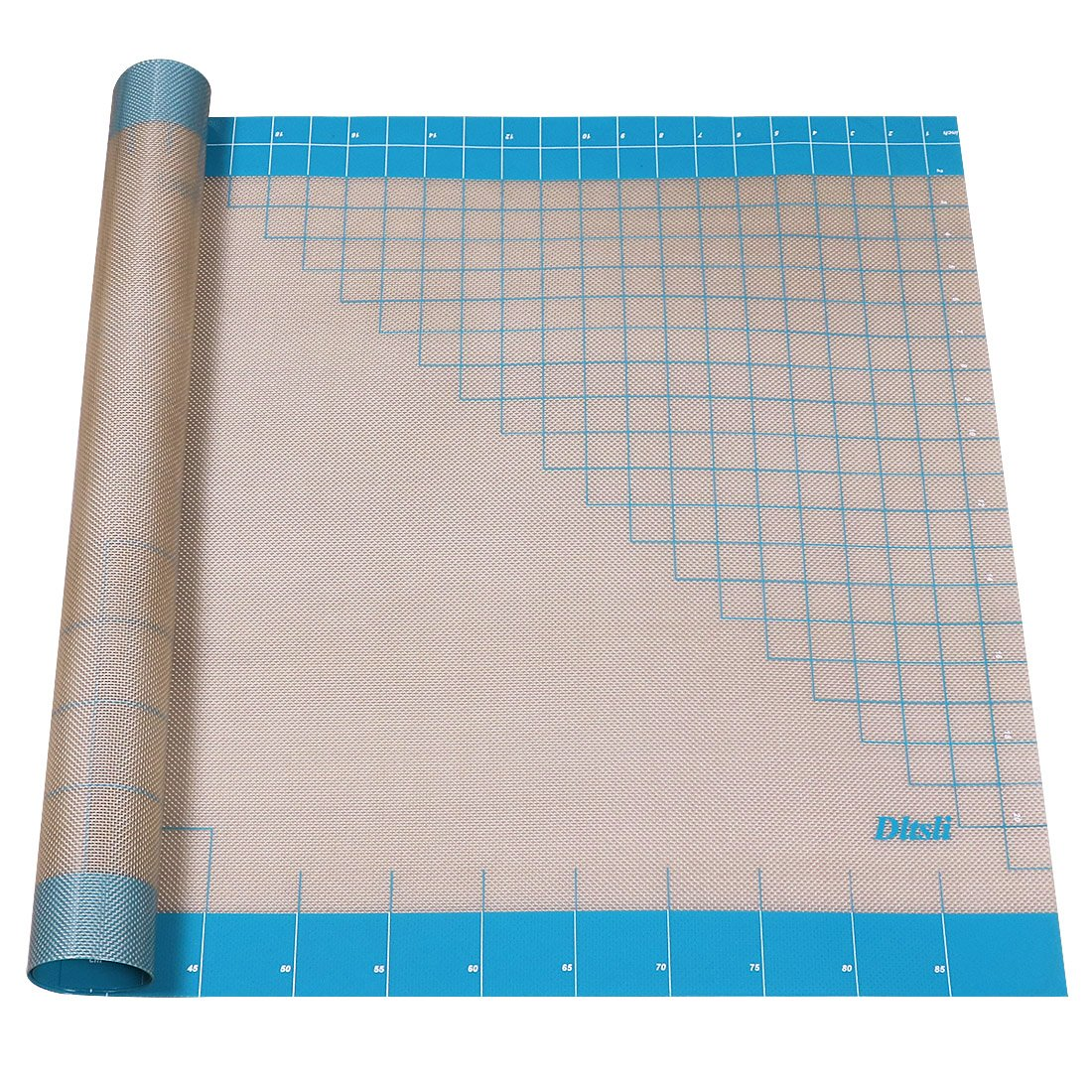 Silicone Pastry Mat with Measurements, 36'' x 24'', Full Sticks To Countertop For Rolling Dough, Perfect Fondant Surface.