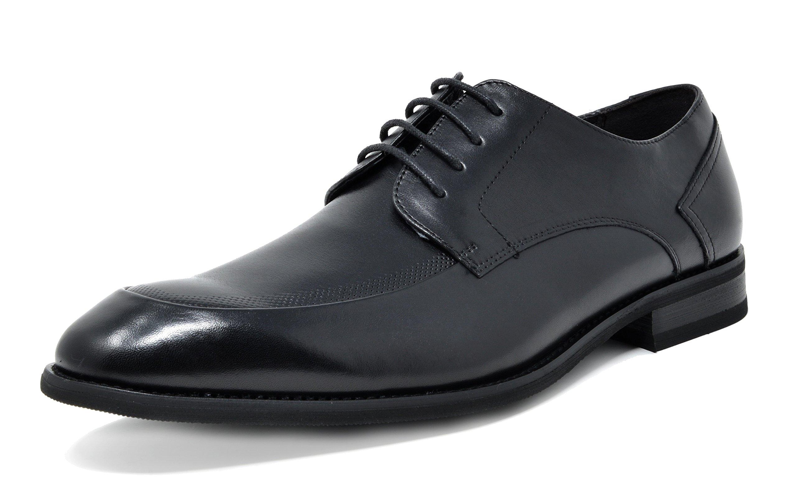 Bruno Marc Men's Washington-3 Black Leather Lined Dress Oxfords Shoes Size 14 M US