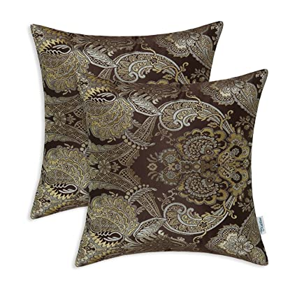 Amazon.com: Pack of 2, CaliTime Supersoft Throw Pillow Covers Cases ...