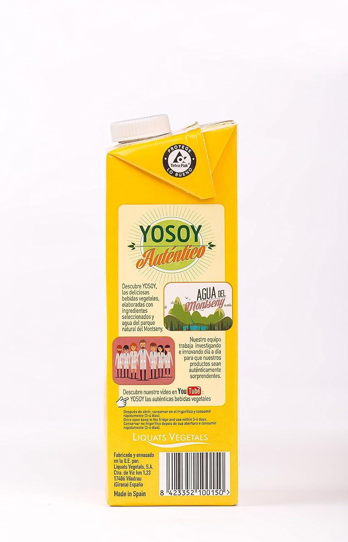 YOSOY BEBIDA VEGETAL DE AVENA CALCIUM 1L - Caja de 6x1000ml - Total 6000 ml: Amazon.es: Alimentación y bebidas