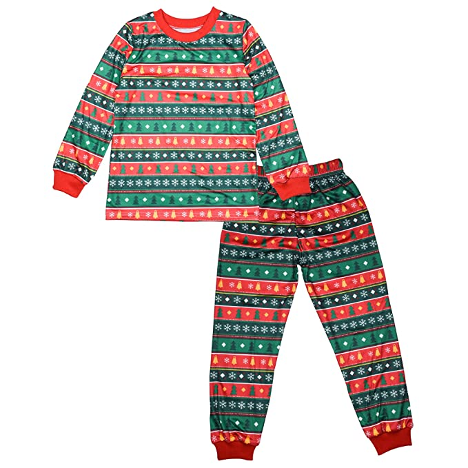 57210ac07e BOZEVON Familia de Navidad Pijama - Imprimir Conjunto de Ropa de Dormir  Navideño para Bebé Niño