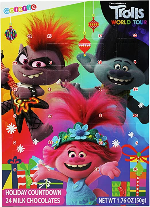 2020 Christmas Candy Countdown Calendar Amazon.com: Trolls World Tour Christmas Advent Calendar 2020