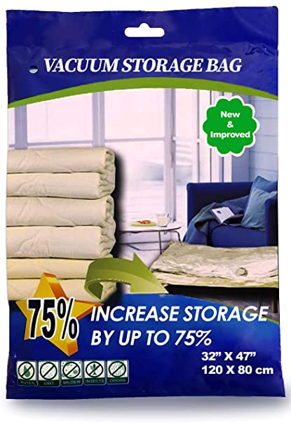 6bd4881d52a YAWPED 12 Pack Combo Premium Jumbo Extra Large Vacuum Storage Space Saver  Bags X8 (47X32