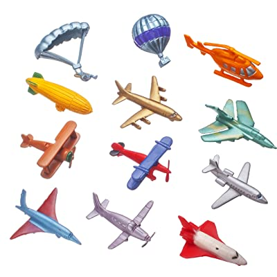 Smart Novelty Toy Airplane Set of 12 Pc. (Mini): Toys & Games