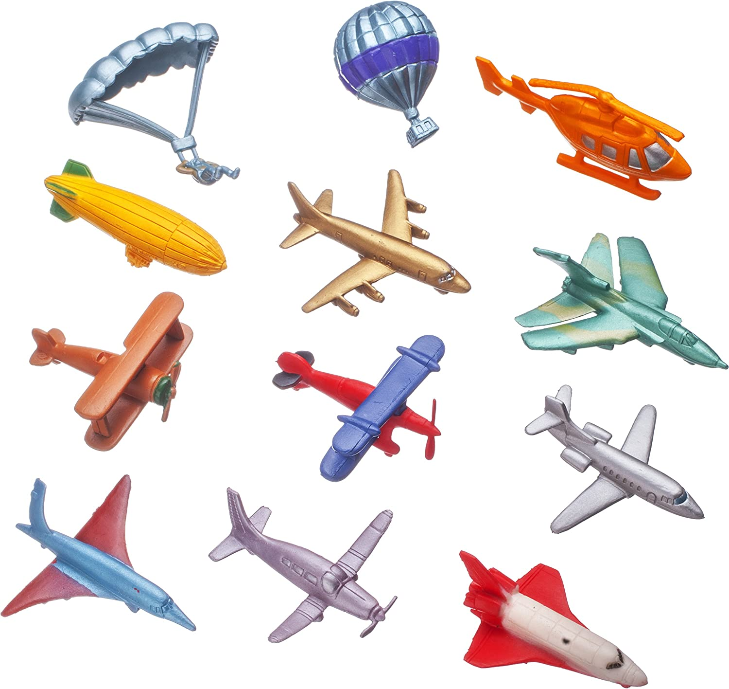 Smart Novelty Toy Airplane Set of 12 Pc. (Mini)
