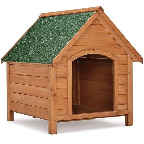 Caseta para perros «Rocky» con techo abatible y suelo elevado, 71 cm x