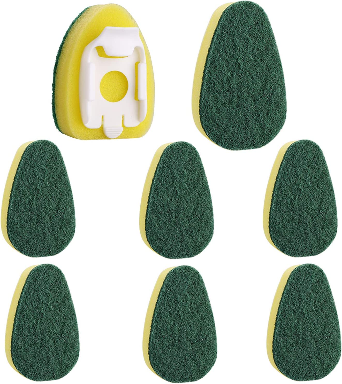 Dish Wand Refills 8Packs,Sponge Replacement Heads,Dish Wand Sponge Refill for Kitchen Cleaning