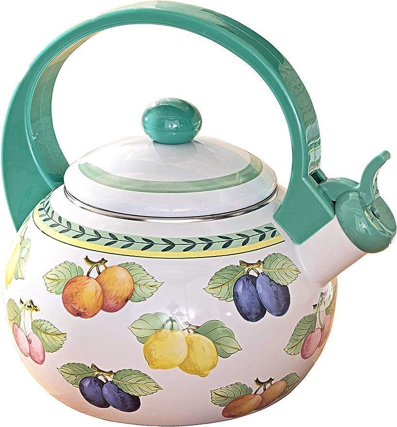 2 l Multicolore//Vert Villeroy /& Boch French Garden Kitchen Th/éi/ère M/étal