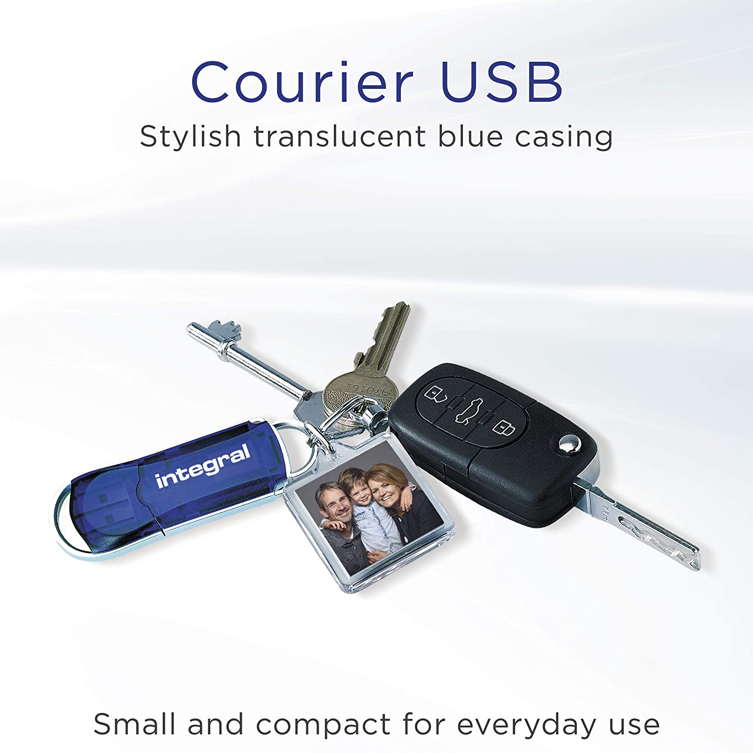 Integral 32GB 3Pack USB Memory 2.0 Flash Drive Courier Blue