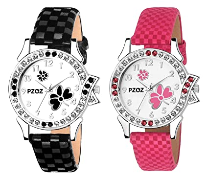 c7f17c2adb PZOZ Analog Multicolor Dial Girl's Watch: Amazon.in: Watches