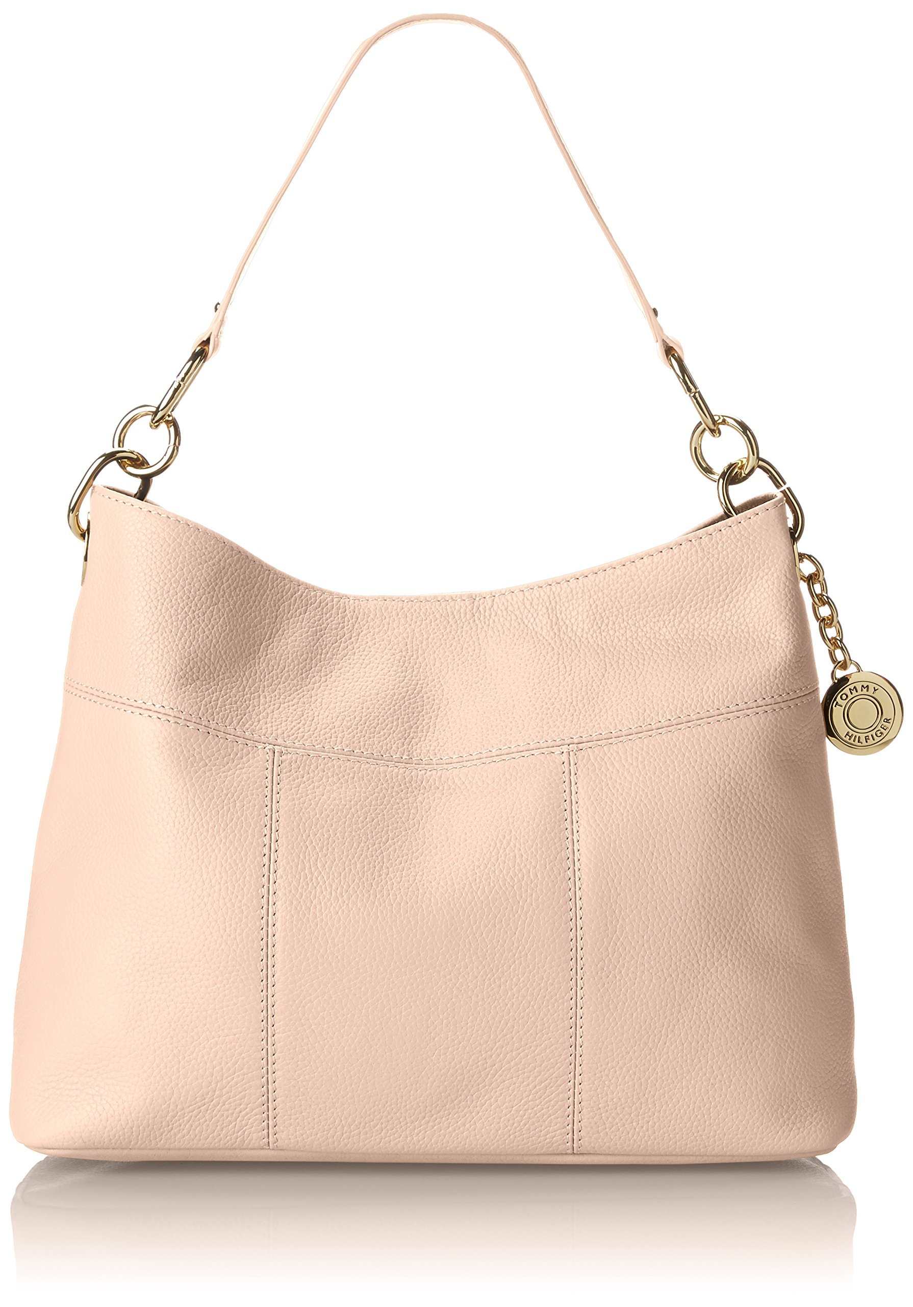 Tommy Hilfiger Purse for Women TH Signature Hobo, Blush