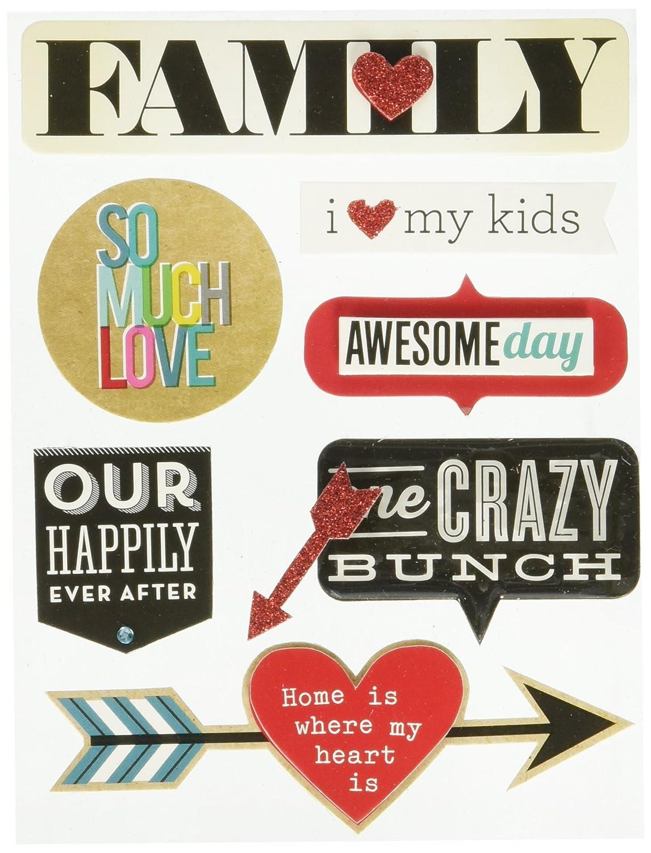 Me & My Big Ideas Soft Spoken Themed Embellishments-Family - So Much Love by Me & My Big Ideas B00UNR6Q1C