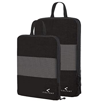 c5c688d32a6e 2 Set Compression Packing Cubes Travel Luggage-Organizer Set Packs More in  Less Space