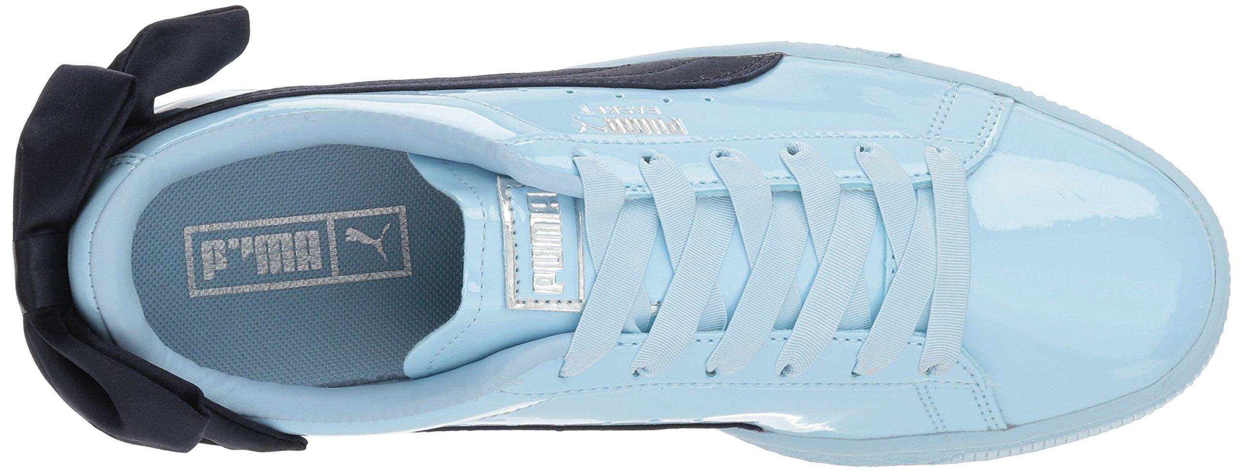 PUMA Unisex-Kids Basket Bow Patent Sneaker, Cerulean-Peacoat, 12 M US Little Kid by PUMA (Image #8)