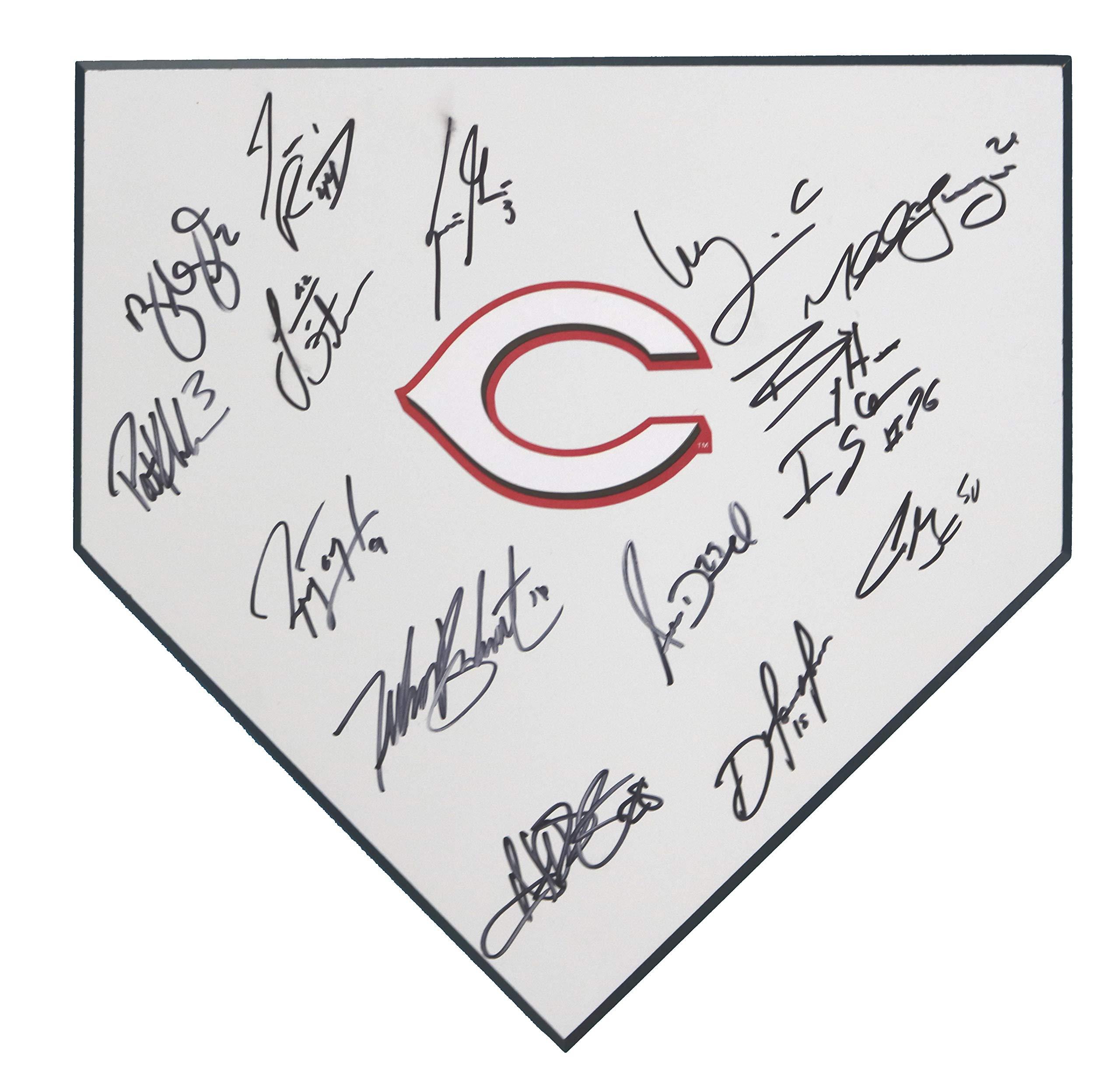 Cincinnati Reds 2017 18 Team Signed Autographed Home Plate 15 Autographs Gennett Hamilton