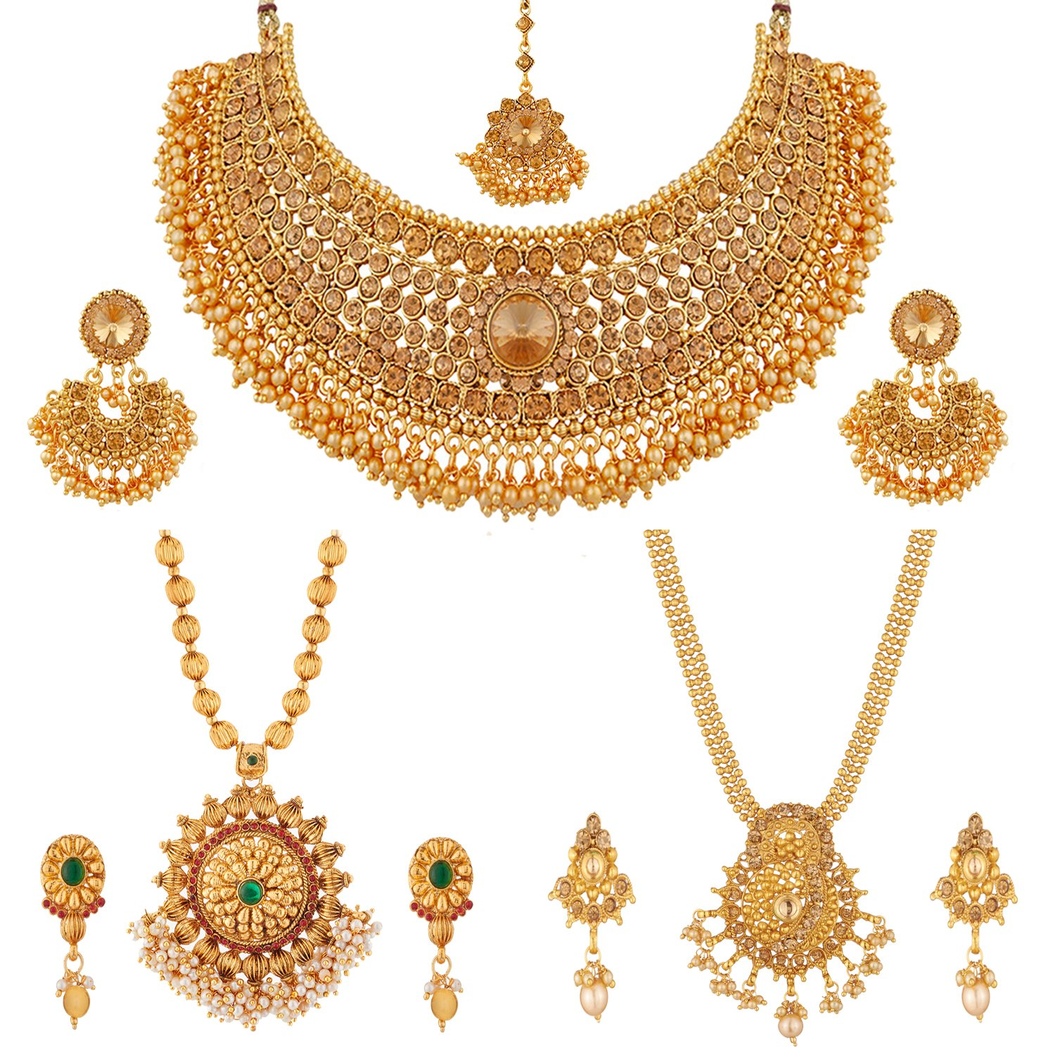 Buy Apara Necklace and Long Mala Jewellery Combo with Pearl For ...